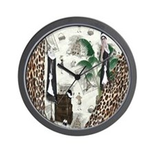 Gatsby In Paris II Wall Clock