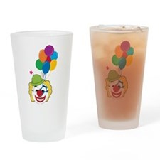 Clown With Balloons Drinking Glass
