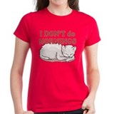 I Dont Do Mornings Cat Tee