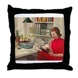 Unique Typewriter Throw Pillow
