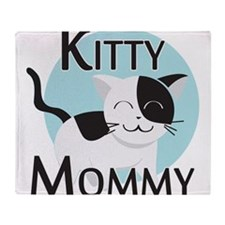 Kitty Mommy Cute Cat Throw Blanket