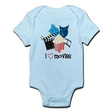 I Love Movies Onesie