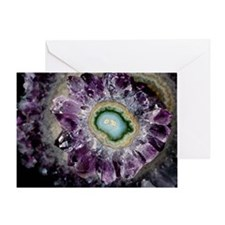 Amethyst and chalcedony - Greeting Card