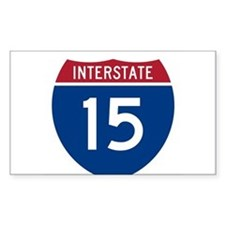 I-15 Highway Oval Decal