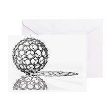 Fullerene molecule - Greeting Card
