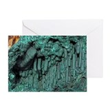 Malachite mineral sample - Greeting Card