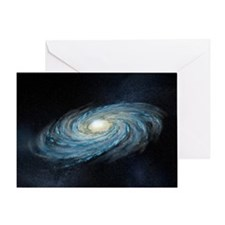 Milky way galaxy, artwork - Greeting Card