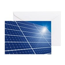 Solar panels in the sun - Greeting Card