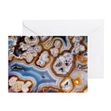 Slice of honeycomb agate - Greeting Card