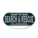 Alabama Search Rescue 20x12 Oval Wall Decal