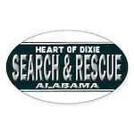 Alabama Search Rescue Sticker (Oval 50 pk)