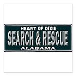Alabama Search Rescue Square Car Magnet 3