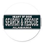 Alabama Search Rescue Round Car Magnet