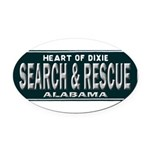 Alabama Search Rescue Oval Car Magnet