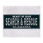 Alabama Search Rescue Throw Blanket