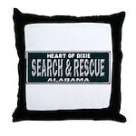 Alabama Search Rescue Throw Pillow