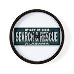 Alabama Search Rescue Wall Clock