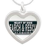 Alabama Search Rescue Silver Heart Necklace