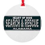 Alabama Search Rescue Round Ornament