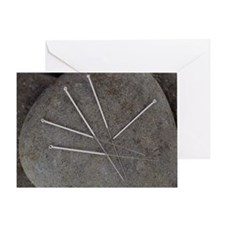 Acupuncture needles - Greeting Card