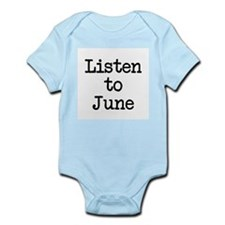 Listen to June Infant Bodysuit