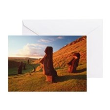 Easter Island statues - Greeting Card