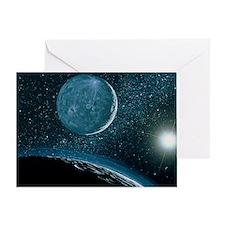 Illustration of Pluto - Greeting Card