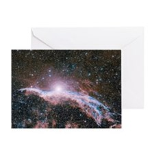 Veil nebula supernova remnant - Greeting Card