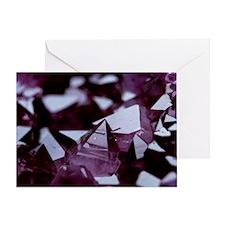 Amethyst crystals - Greeting Card