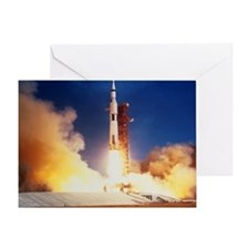 Launch of Apollo 11 spacecraft en route to Moon -