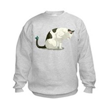 Butterfly and Bathing Cat Sweatshirt