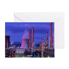 Petrochemical plant - Greeting Card