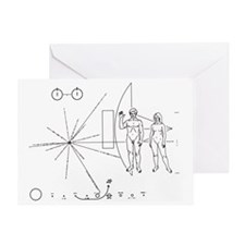 Pictorial plaque on Pioneer 10 and 11 - Greeting C