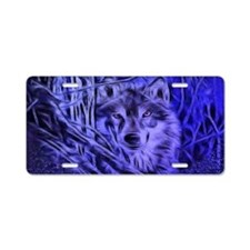 Night Warrior Wolf Aluminum License Plate