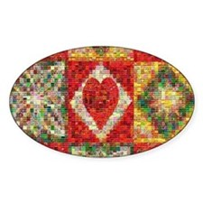 Heart Patchwork Love Quilt Decal