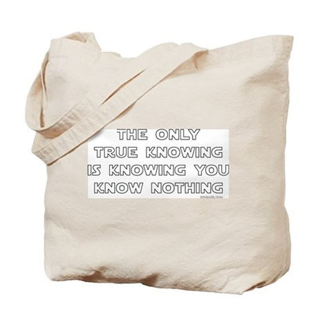 You Know Nothing-Socrates Tote Bag