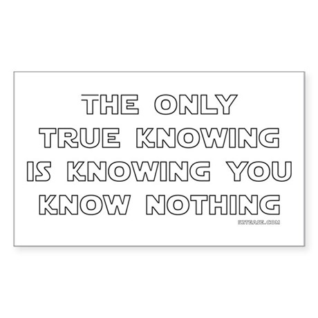 You Know Nothing-Socrates Rectangle Sticker