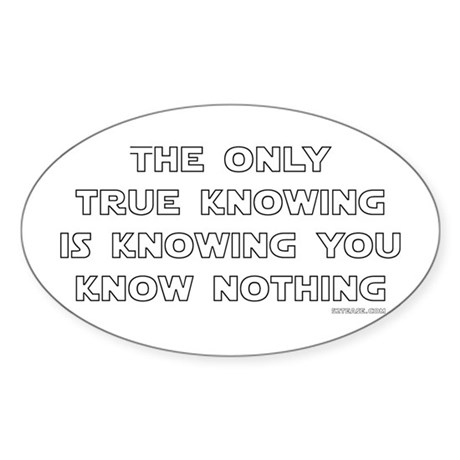 You Know Nothing-Socrates Oval Sticker