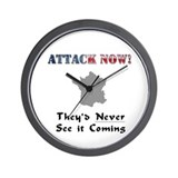 Attack Now/France Wall Clock
