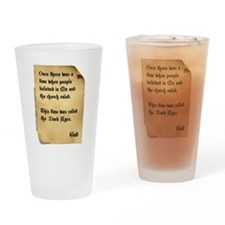 God and the Dark Ages Drinking Glass