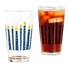 Hanukkah Candles Drinking Glass