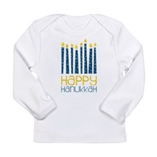 Happy Hanukkah Long Sleeve Infant T-Shirt