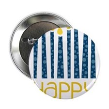 "Happy Hanukkah 2.25"" Button"