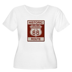 Lenwood Route 66 Women's Plus Size Scoop Neck T-Sh