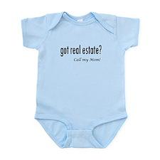 got real estate? Mom Infant Bodysuit