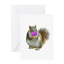 Squirrel Candy Heart Greeting Card