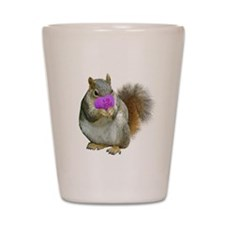 Squirrel Candy Heart Shot Glass