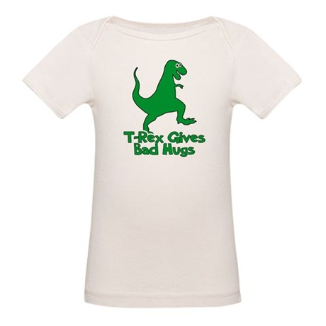 T-Rex Gives Bad Hugs Organic Baby T-Shirt