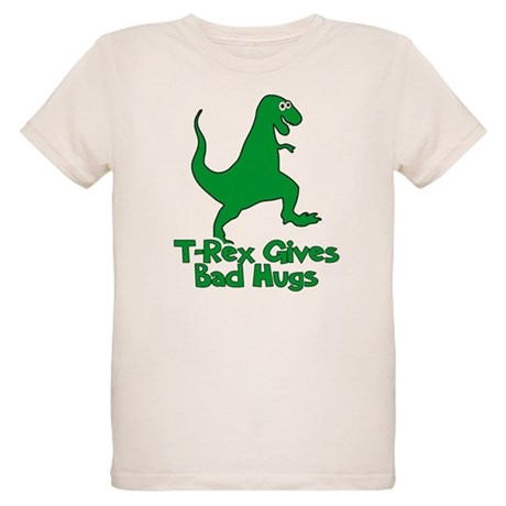 T-Rex Gives Bad Hugs Organic Kids T-Shirt