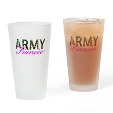 BDU Army Fiancee Drinking Glass